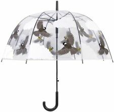 Flying Birds Transparent Dome Umbrella, automatic opening FREE P&P