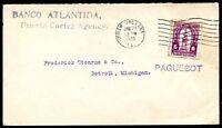 HONDURAS TO USA - PAQUEBOT Cover 1925 VF