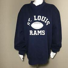 Reebok Men's Large Pullover Sweater NFL Football St. Louis Rams Long Sleeve Navy