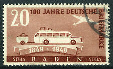Germany 5N44, Used. Buden. Bus, Trailer, Plane, 1949
