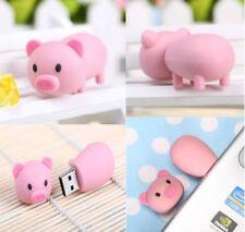 64GB 32GB 16GB Rosa Pig animales de dibujos animados USB 2.0 Flash Pen Drive Tarjeta de memoria Lote