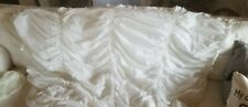 Simply Shabby Chic Duvet Cover White Cotton Ruffles Smocked Ruched Twin