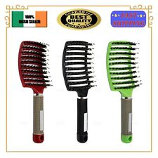 Thermal Vented Hair Brush With Boar Bristle Massage Vent Brush EU