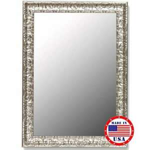 """Hitchcock Butterfield 26"""" X 36"""" Antique Mayan Silver Framed Wall Mirror - 270100"""
