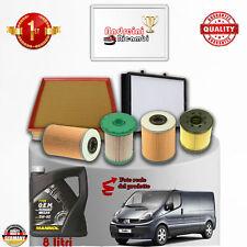 Kit Inspección Filtros + Aceite Renault Trafic II 2.5DCI 99KW De 2005 - >2006