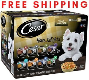 Cesar Home Delights Wet Dog Food, 8 Flavor Variety Pack in Sauces 3.5 oz., 40 ct