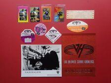 Van Halen ,promo photo,8 Backstage passes,Door sign,Concert ticket,Rare original