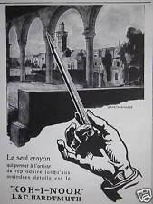 PUBLICITÉ KOH-I-NOOR L & C. HARDTMUTH LE SEUL CRAYON QUI PERMET À L'ARTISTE