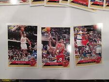 1992-93 Upper Deck McDonalds Chicago Bulls  Complete set scare w/Michael Jordan