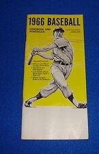 1966 Baseball Handbook & Schedule