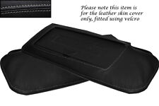 GREY STITCH FITS CORVETTE C4 84-96 2X SUN VISORS LEATHER COVERS ONLY