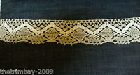 Cream & Beige Scalloped Edge Vintage Crochet Cotton Lace