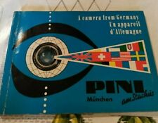 Catalogue magasin PINI  MUNCHEN année 50  appareils photos camera accesssoir
