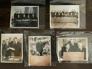 1930s MLB HOF ORIGINAL TYPE 1 WIRE PHOTOS - LOT of 5