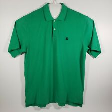 Brooks Brothers Mens 2XL Polo Shirt Original Short Sleeve Golf Green 100% Cotton