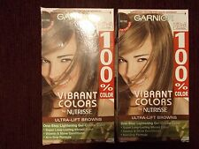 2  boxes of GARNIER 100% VIBRANT COLORS UB-3 ULTRA LIFT GOLDEN BROWN  HAIR COLOR