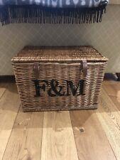 Fortnum & Mason F&M  Large Hamper Wicker Storage Basket Coffee Table