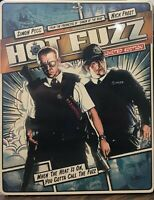 Hot Fuzz STEELBOOK (Blu-ray/DVD, 2013, 2-Disc, Digital) NEW SEALED