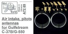 Mini World Models 1/72 GULFSTREAM G-550 AIR INTAKES PITOT TUBE & ANTENNA Set