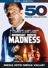 MIDNIGHT MOVIE MADNESS New Sealed 10 DVD Set - 50 movies total!