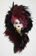 Unique Creations Limited Edition Lady Face Mask Wall Hanging Decor 31706