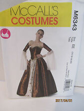 McCall'S Sewing Pattern Corset , Upper Sleeve And Skirt Sz.14-20