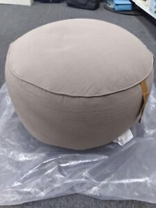 Pouf with Leather Loop Handle - Threshold designed with Studio McGee