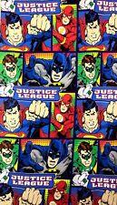 "Justice League Batman, Superman, Flash, Green Lantern Fabric - L38""xW80"" inches"