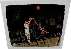 Stephen Curry Signed Autograph Big Canvas Stretched vs Lebron James 5/30 Steiner