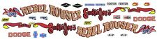 REBEL ROUSER Dodge Dart Sport 1/64th HO Scale Slot Car Decals