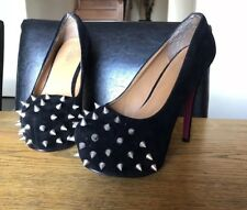 Gala Black Spiked Pumps High Heels Great Condition Fetish Sexy Dominatrix