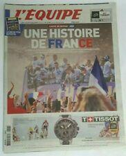 L'EQUIPE-journal 17 Juillet 2018-Coupe du Monde Russie-Histoire de France-Poster