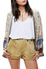 Free People Womens Herringbone OB560114 Shorts Slim Thyme Brown Size US 4