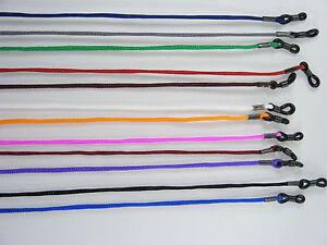 Brillenband Brillenkordel elastisch, Gummischlaufe verstellbar, 12 Farbvarianten