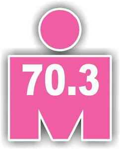 "2"" Iron MAN 70.3 Pink Phone Decal Sticker Car Window Running Jogging Marathon"