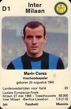 INTER MILAN - MARIO CORSO #D1 1970 Dutch European Cup Card RARE