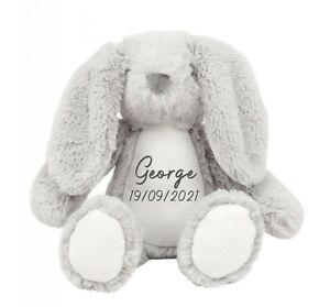 Personalised Soft Toy Teddy, Owl Bunny Unicorn Lion Giraffe Elephant Cat, Name