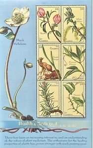 GAMBIA HEALTH & MEDICINAL PLANTS OF THE WORLD  STAMPS 2001 MNH ROSEMARY PEPPER