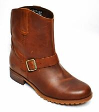Timberland Banfield Mid Pull On Brown Leather Womens Boots A162V Size 7.5 UK New