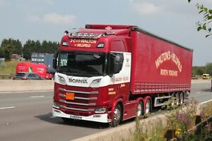 Colour photograph truck photo J C & I WALTON OF HELLIFIELD SCANIA YH69BYW