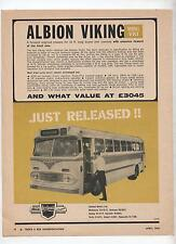 Albion Viking VK1 Original Advertisement removed from a Magazine Bus