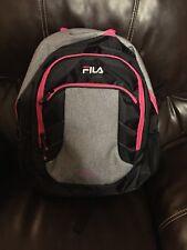 fc0be653da11 FILA Filatech Black Grey Hot Pink Backpack NEW NWT