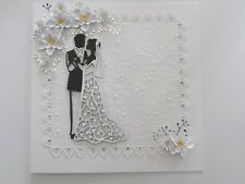 Luxury Handmade Personalised Wedding/Anniversary Keepsake Card Bride & Groom