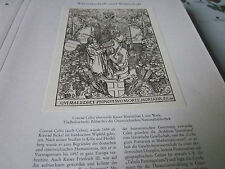 Wien Archiv 9 Wirtschaft 5004 Conrad Celtis 1459-2508 übrerreicht sein Werk