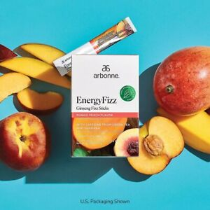Arbonne Fizz Sticks - Mango Peach - Natural Tea coffee Energy Drink Alternative