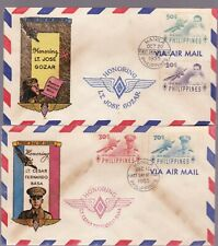 Philippines First Day Cover 1955 Jose Gozar - Fernando Basa,  Aviators 2 cover