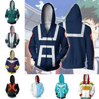 My Hero Academia Hoodie 3D Print Sweatshirt Zipper Hooded Casual Jacket Coat Top