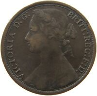 GREAT BRITAIN PENNY 1877 VICTORIA #a02 295
