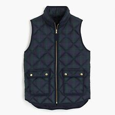 NWT$138 J. Crew Excursion Black Watch Excursion Quilted vest, SP fits 2-4