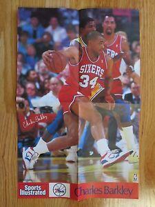Rare Send-Away CHARLES BARKLEY #34 PHILADELPHIA 76ers Sports Illustrated Poster